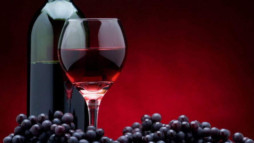 wine glass bottle grapes d wallpaper