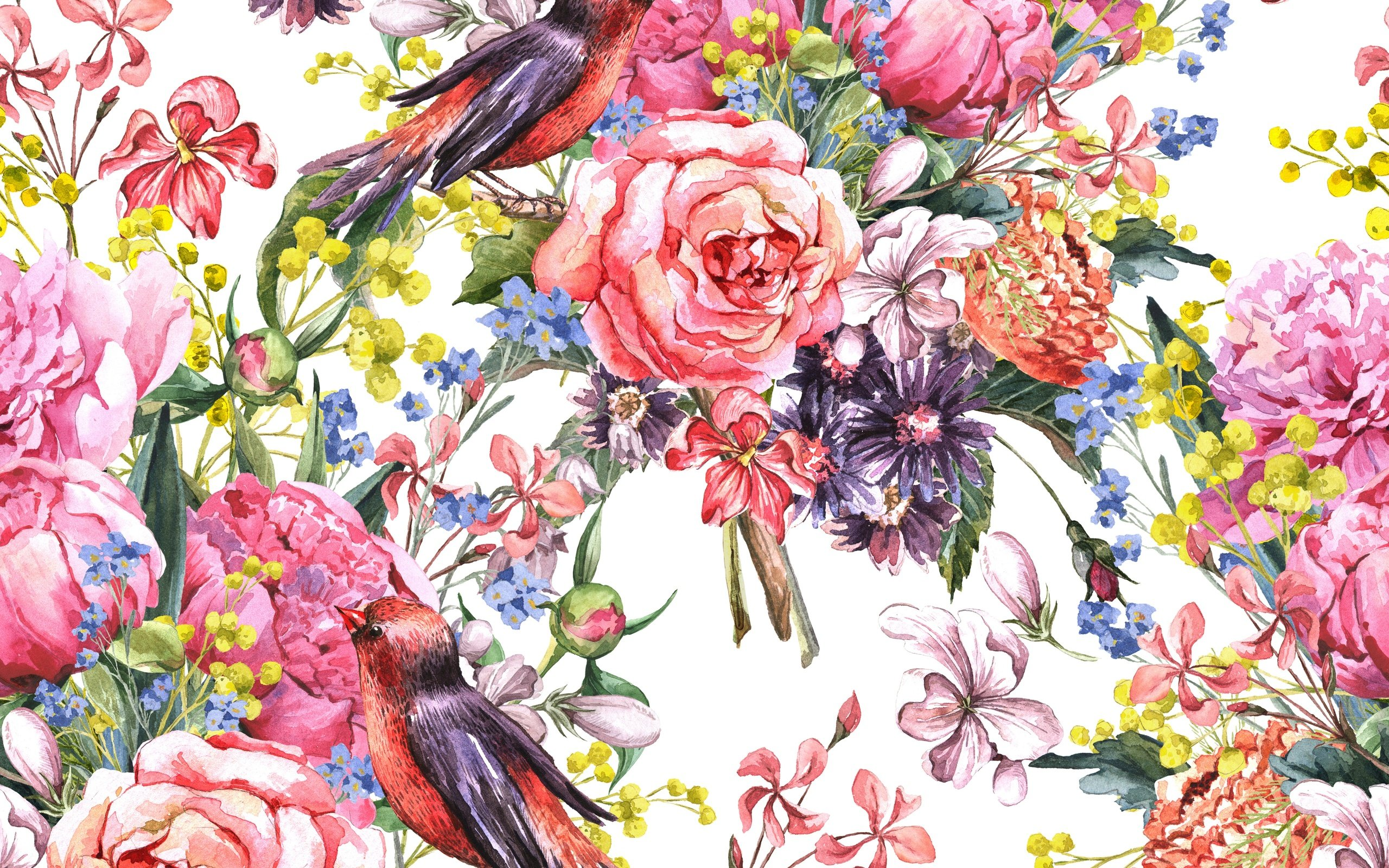 flower painting watercolor wallpaper - photo #16