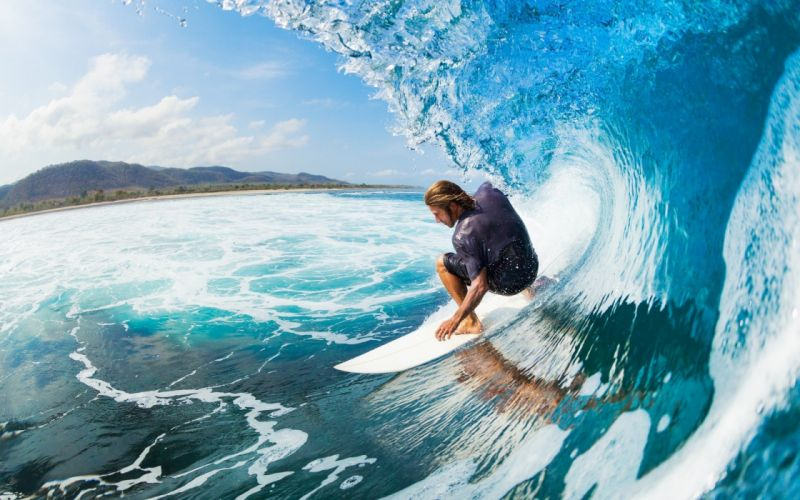 surfing ocean sea waves wallpaper