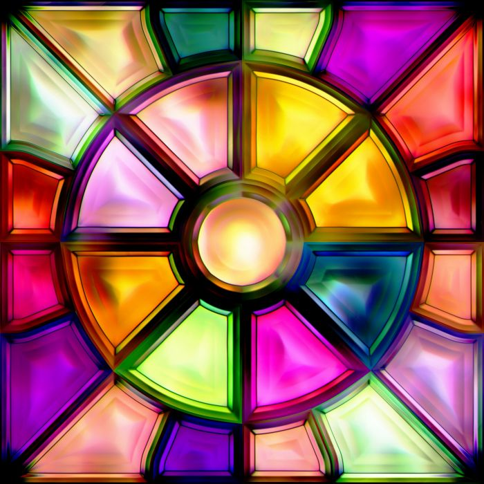 Glass Wallpaper: Glass Colorful Stained Glass Wallpaper