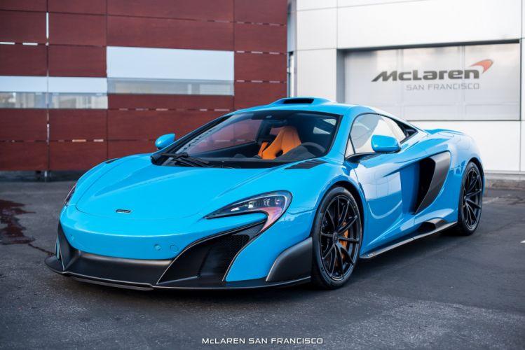 McLaren Mexico Blue 675LT cars coupe wallpaper
