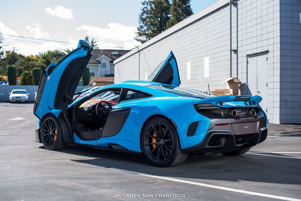 McLaren Mexico Blue 675LT cars coupe wallpaper