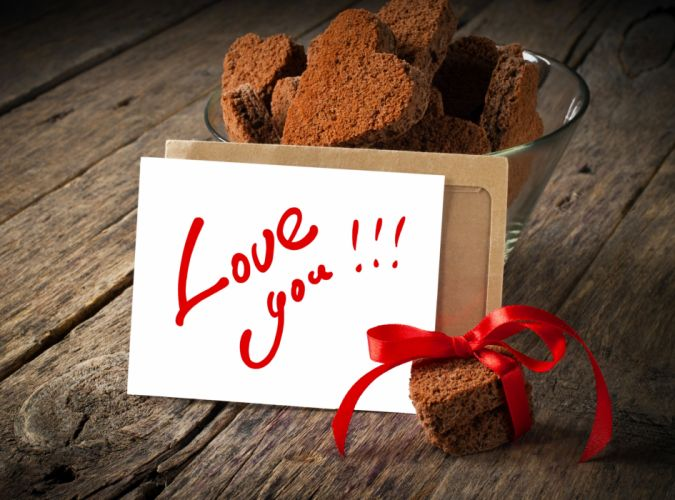 heart ribbon cookies mood love wallpaper