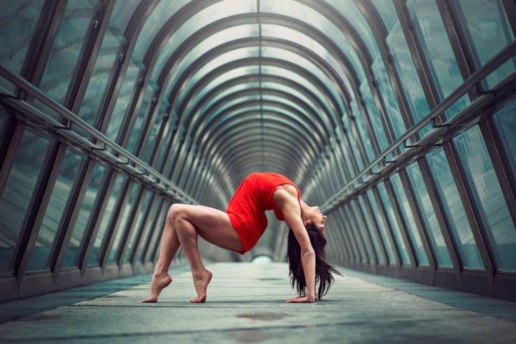 gymnast girl in red julie marques dance dancing mood wallpaper