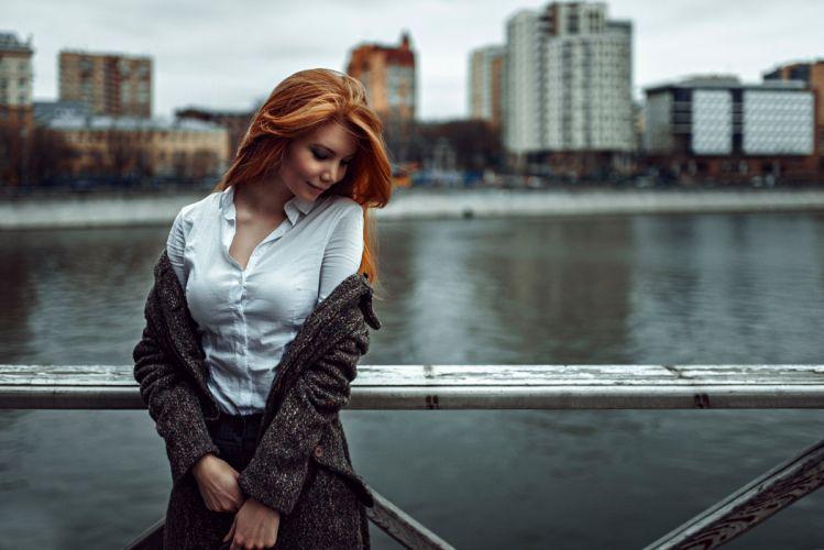 redhead mood girl female wallpaper