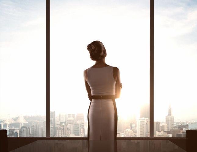 Girl woman window glass mood city wallpaper
