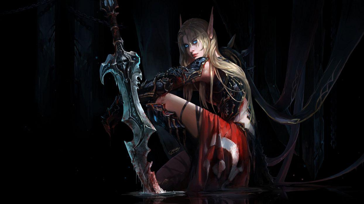 Elven Knight Fantasy Art