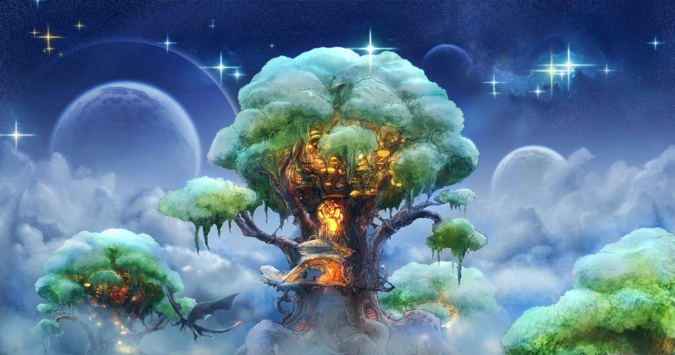 Fantastic world Fantasy artwork magic dragon wallpaper