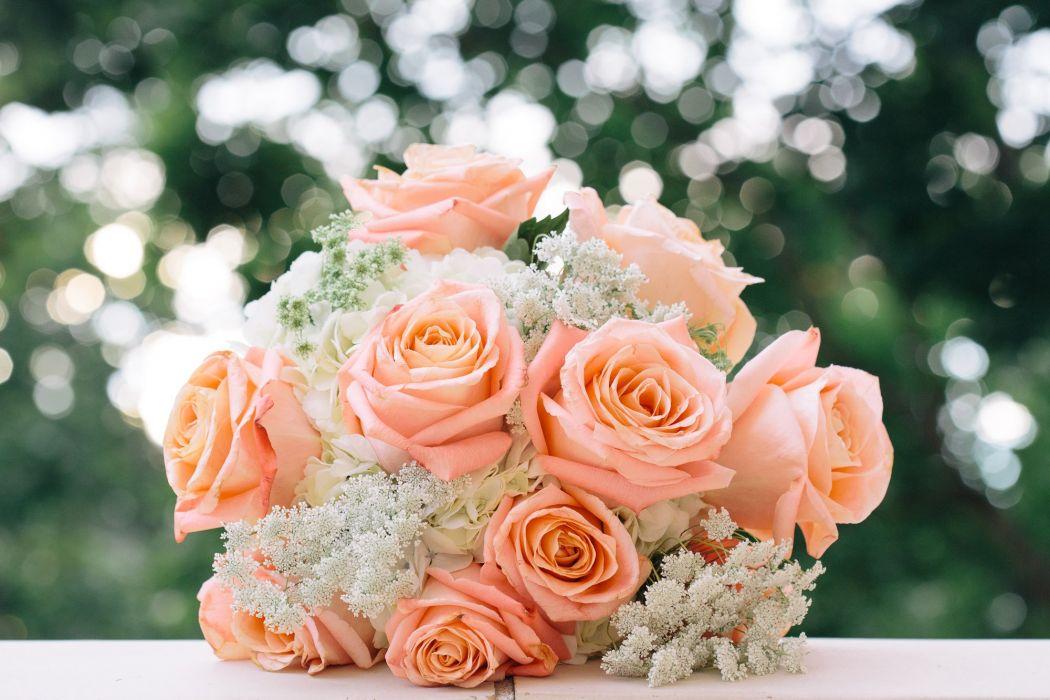 wedding bouquet bouquet roses buds wallpaper