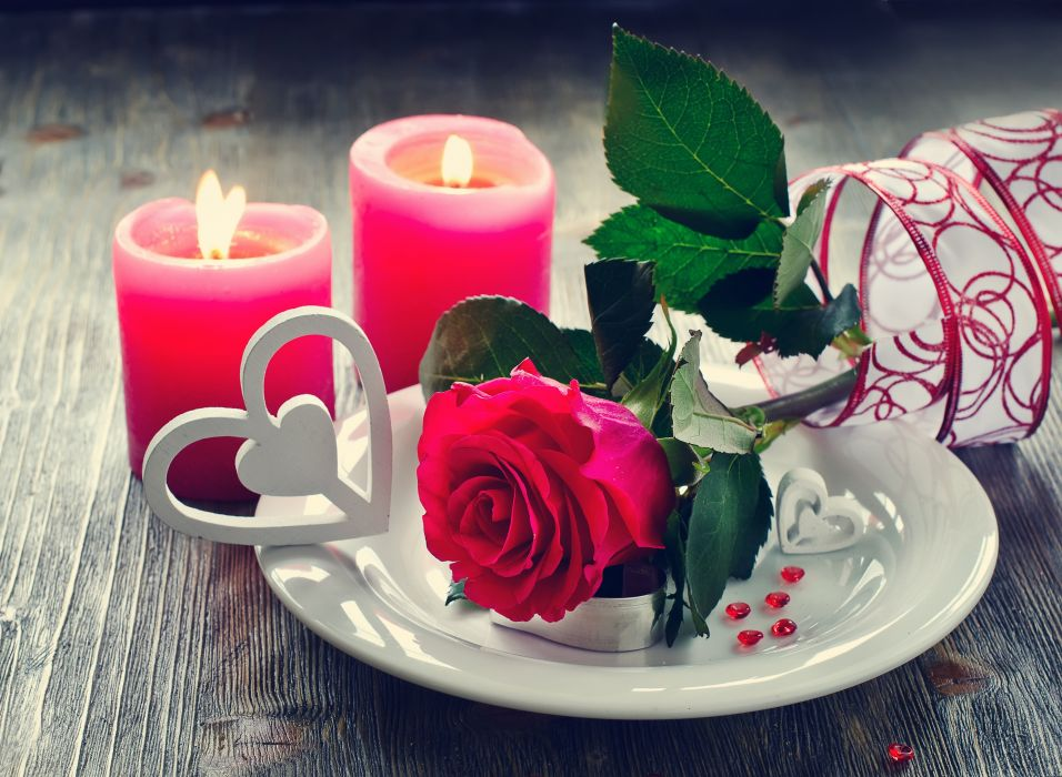 petals candles flowers roses love wallpaper