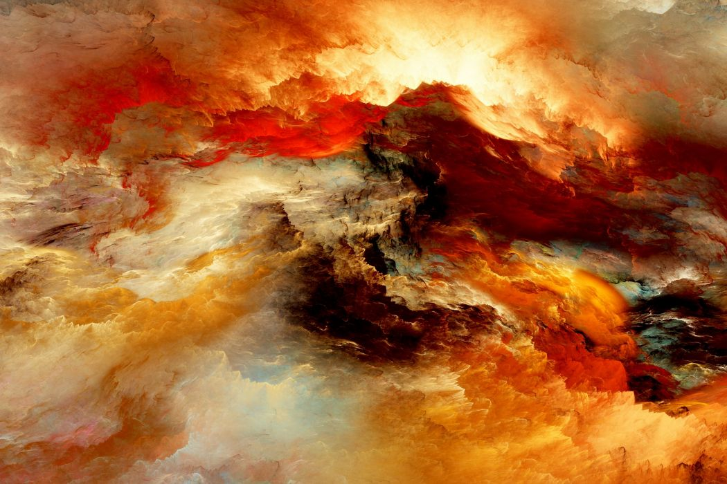 Abstract 3D Graphics psychedelic nebula space wallpaper
