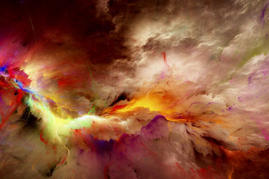 Abstract 3D Graphics psychedelic nebula space f wallpaper