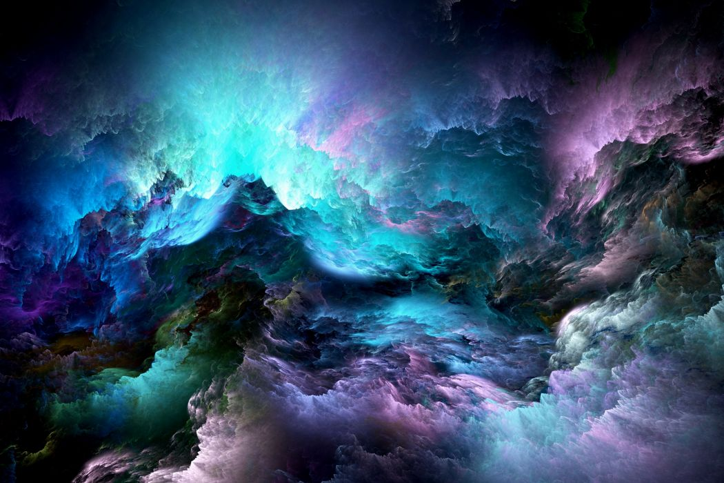 Abstract 3D Graphics psychedelic nebula space d wallpaper