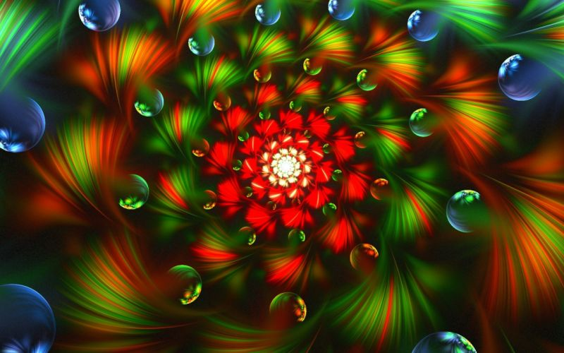 abstract 3d graphics psychedelic wallpaper