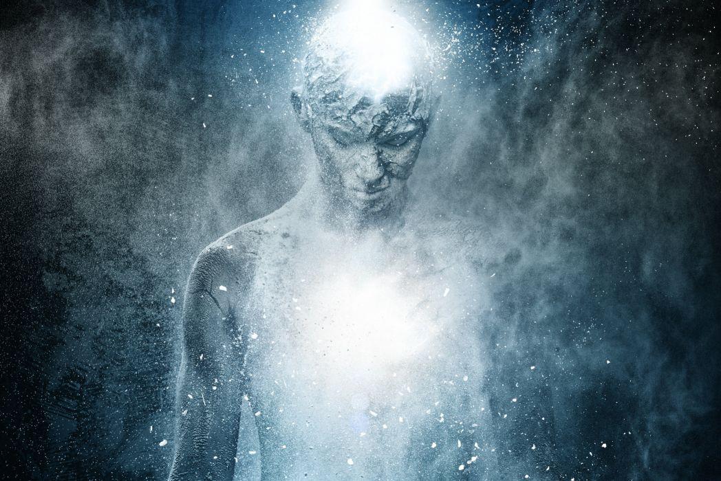 ghost boy man psychedelic dark wallpaper