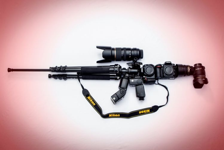 Camera background nikon m16 assault rifle military weapon wallpaper