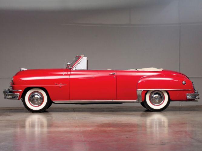 1953 DeSoto Convertible Firedome retro wallpaper