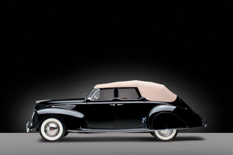 1938 Lincoln Zephyr Convertible Sedan 86H-740 retro wallpaper