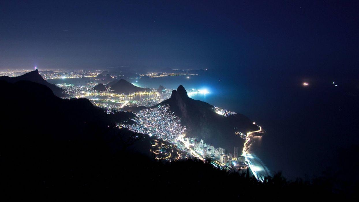 Brazil Night Of Rio De Janeiro Wallpaper 1920x1080 849817