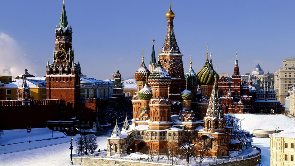 Red Square Moscow Russia Cathedral Spasskaya Tower Capital wallpaper