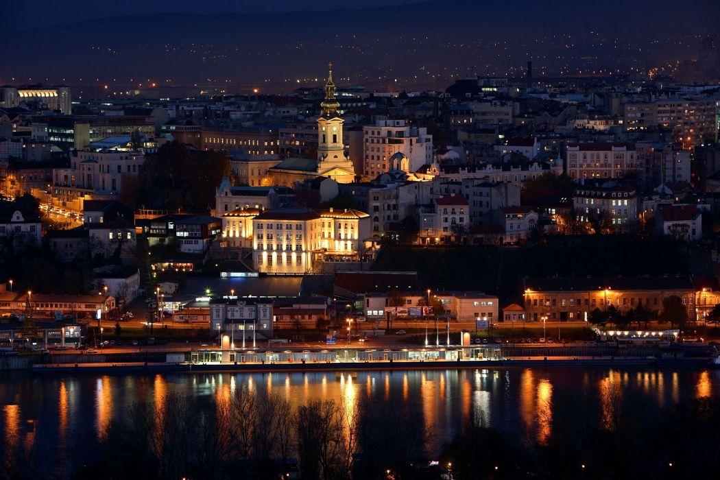 House Belgrade Serbia night cities wallpaper