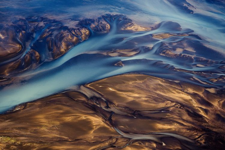Iceland river abstract landscape wallpaper