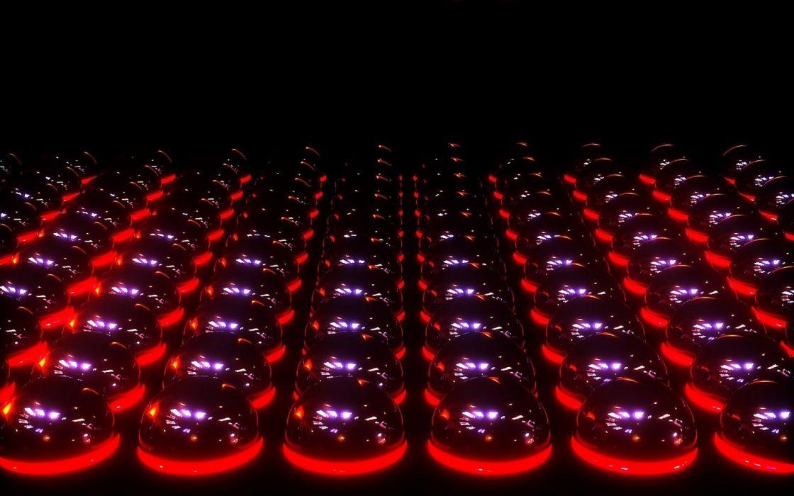 digital art 3d balls lights wallpaper