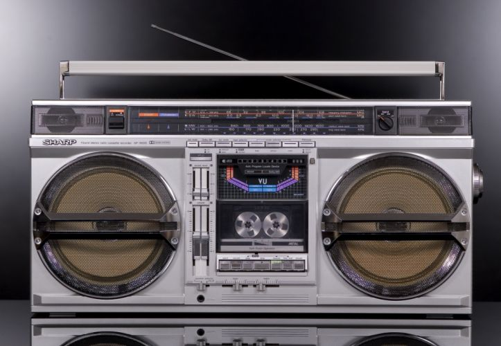 gf-9000 classic sharp tape retro radio stereo wallpaper