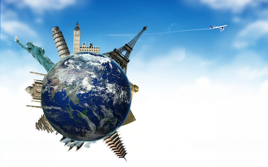 airplane planet sky earth globe earth plane travel tourism France England Spain wallpaper