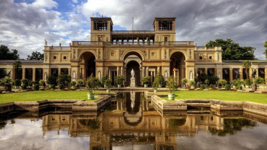 castillo jardin arquitectura wallpaper