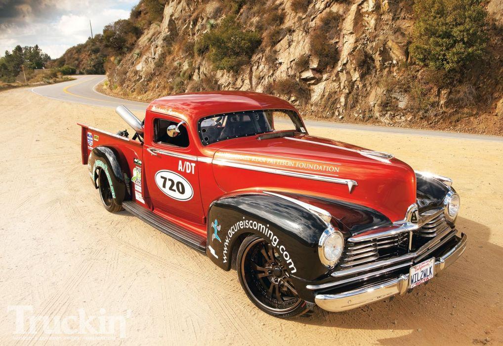 HUDSON PICKUP truck retro custom hot rod rods wallpaper