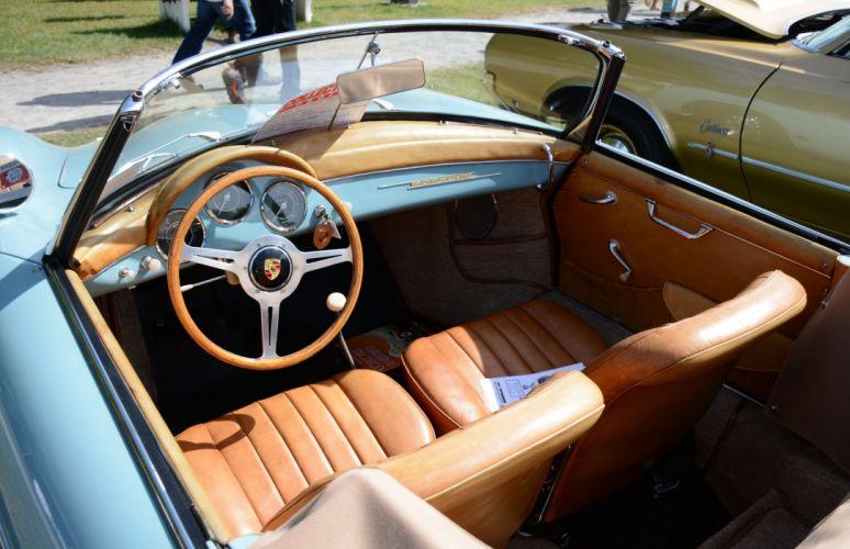 1959 356A convertible D retro wallpaper