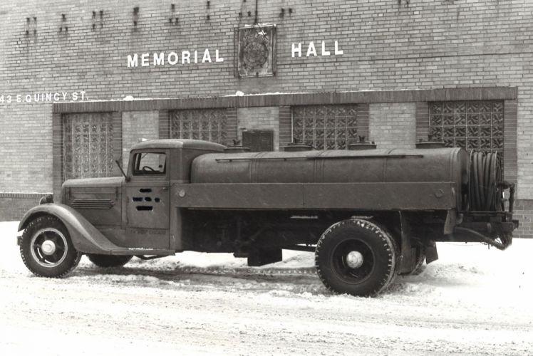 1935 Diamond T Oil Truck semi tractor retro vintage wallpaper