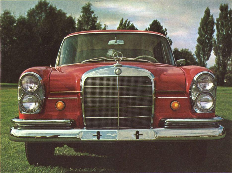 1965 Mercedes Benz 230 200 sedan classic luxury poster wallpaper
