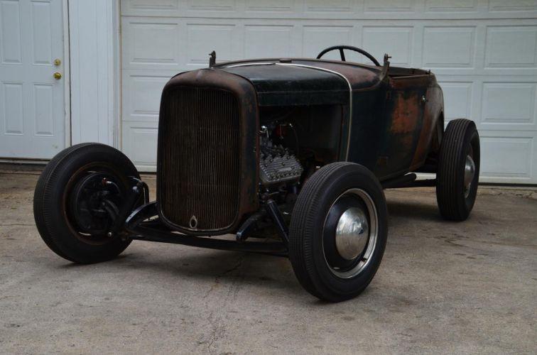 1930 Ford roadster race racing custom retro vintage hot rod rods wallpaper