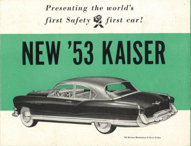 1953 Kaiser retro luxury poster wallpaper