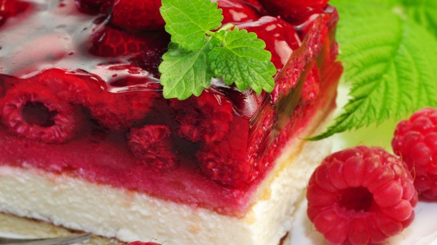 delicious food raspberry jelly wallpaper
