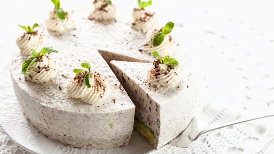 pastry cream cake delicious food wallpaper