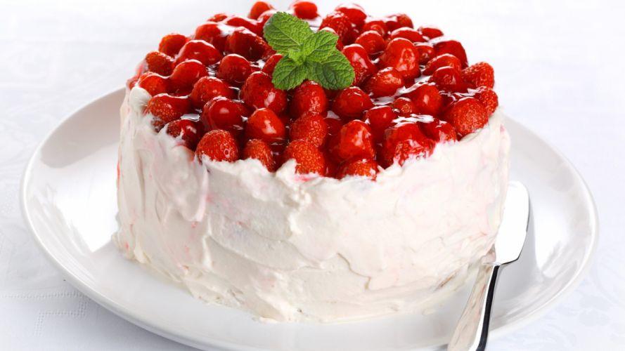 delicious food pastry cream cake Strawberry wallpaper