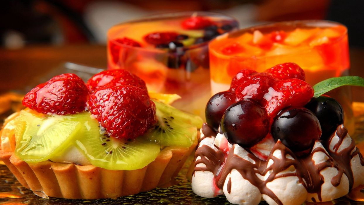 food cake fruits wallpaper