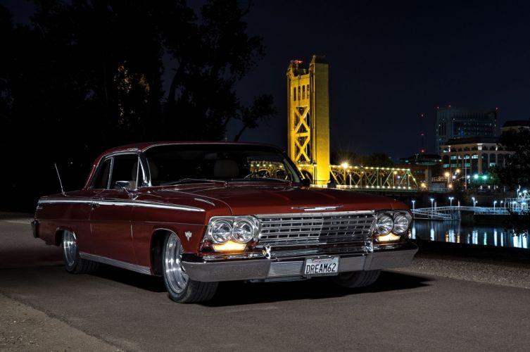 1962 Chevrolet Impala hot rod rods custom muscle classic wallpaper