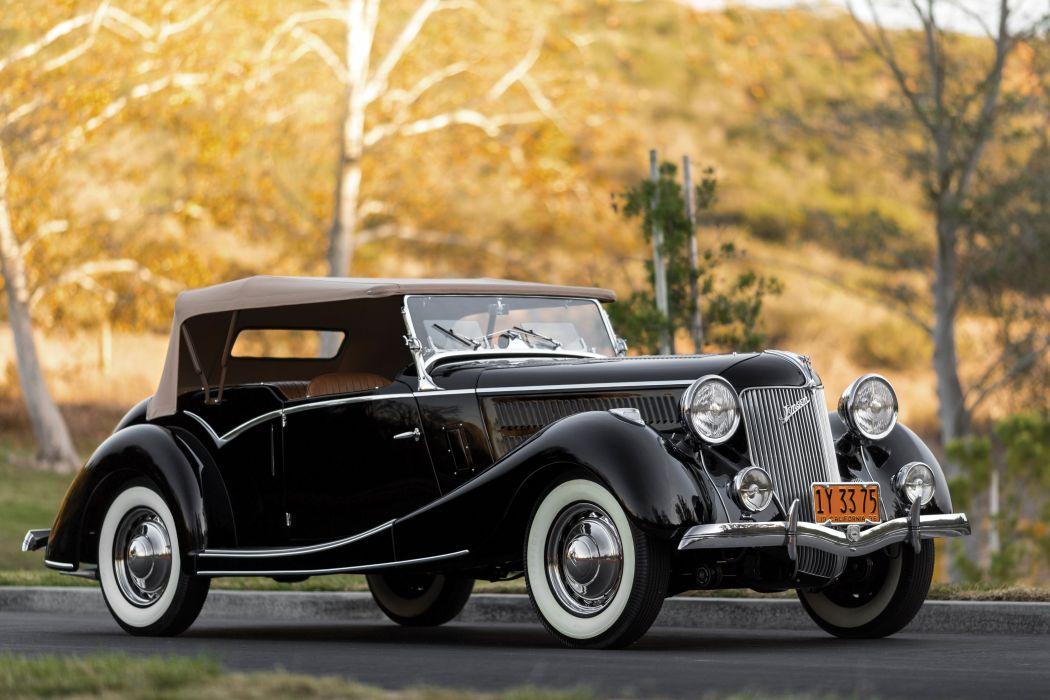 1936-40 Jensen Ford Tourer luxury retro vintage wallpaper