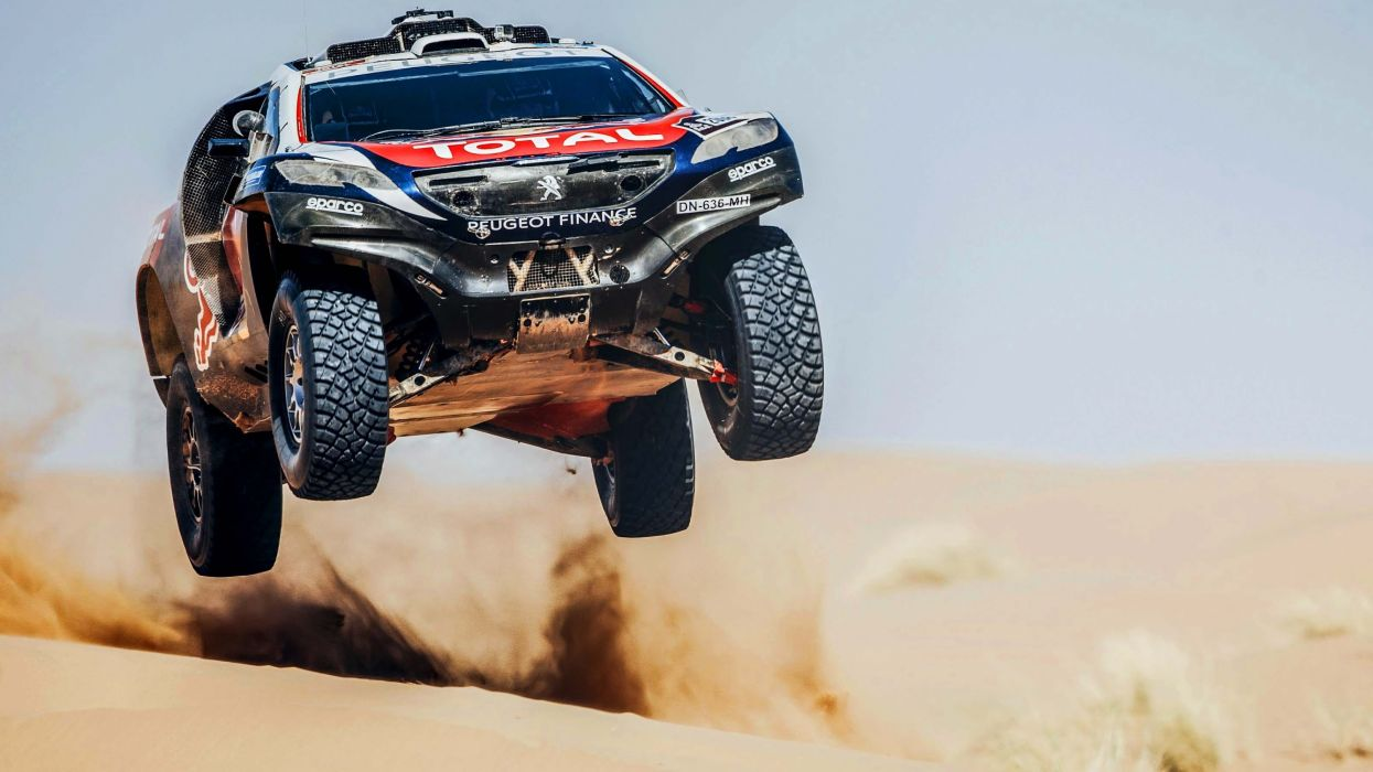 2014 Peugeot 2008 DKR dakar offroad race racing rally 4x4 awd wallpaper
