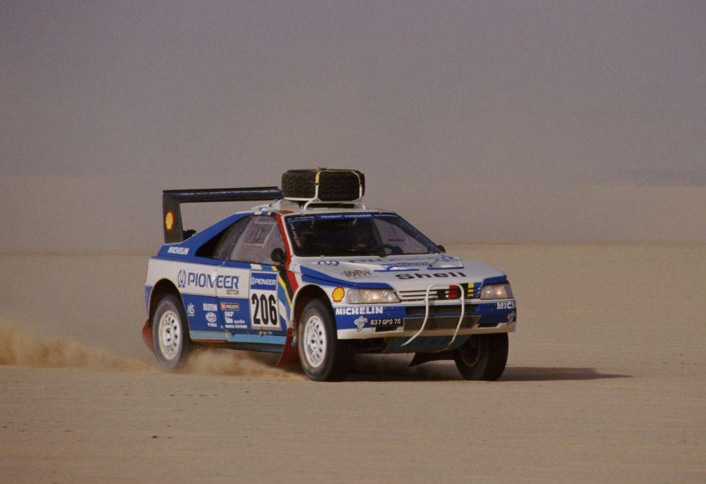 1988 Peugeot 405 T16 Grand Raid Pininfarina dakar offroad race racing rally wallpaper