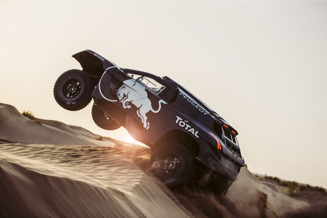 2016 Peugeot 2008 DKR16 dakar rally race racing offroad 4x4 awd wallpaper