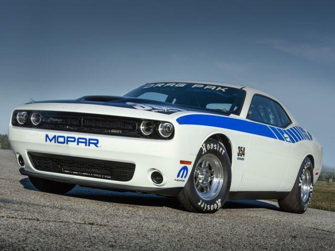 2015 Mopar Dodge Challenger 354 Supercharged Hemi Drag Pak race racing drag muscle hot rod rods wallpaper