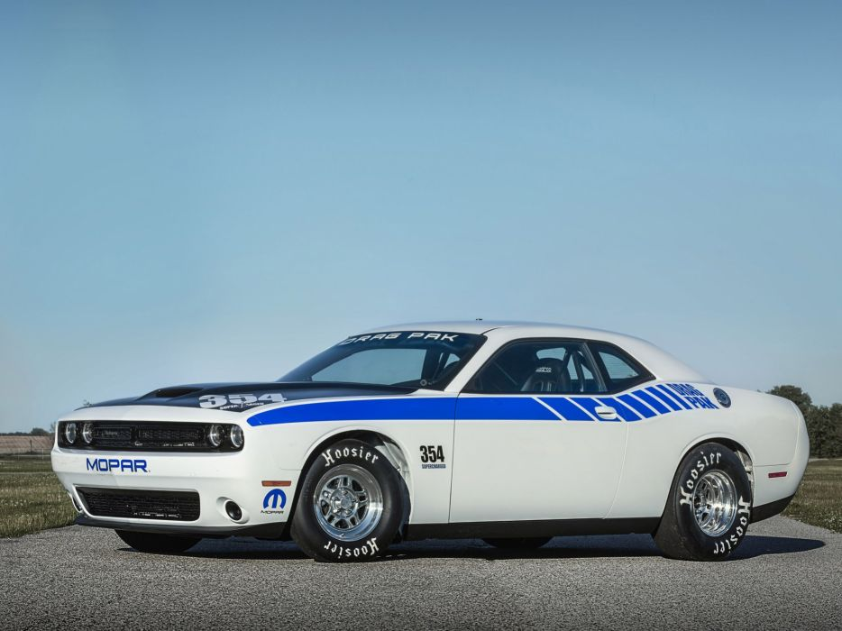 2015 Mopar Dodge Challenger 354 Supercharged Hemi Drag Pak race racing drag muscle hot rod rods wallpaper