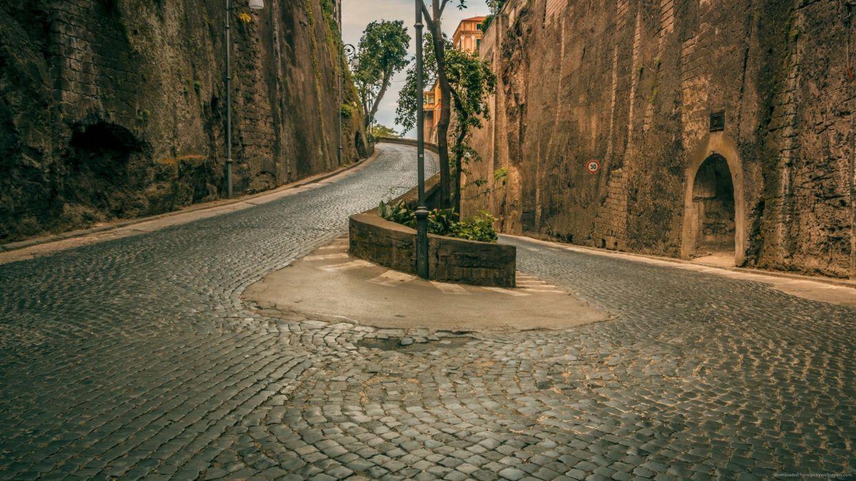 carretera italia curva wallpaper