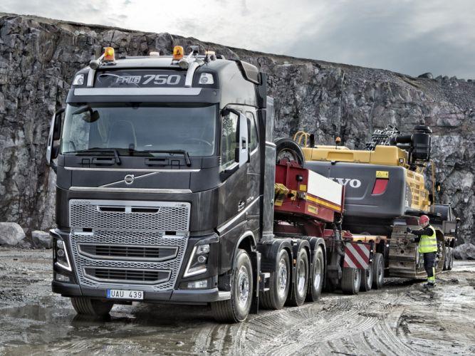 2013 Volvo FH16 750 8x4 tractor semi wallpaper