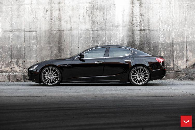 Vossen Wheels Maserati Ghibli cars black wallpaper